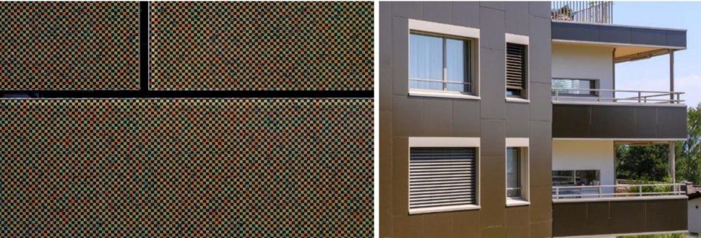 Keramischer Druck auf Modulen im Detail und in der Gesamtsicht © kämpfen für architektur ag