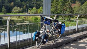 Die Donau kurz vor Sigmaringen, und mein Rad